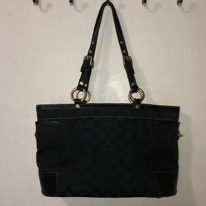 COACH clack monogram shoulder bag